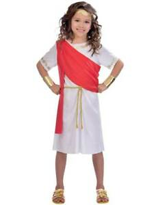 Childs Toga Girl Fancy Dress Costume Roman Greek Emperor Book Week Day New Kids