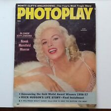 1957 Photoplay Monty Clift Rock Hudson Monroe Mansfield Grant   Fashion Gossip