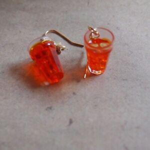 Ohrringe Getränk  *Neu* Cocktail Orange