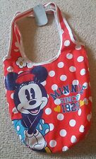 BNWT NEW Tags Minnie Mouse Disney store beach bag red white sparkly