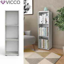 VICCO Bücherregal Beton Optik Regal Schrank Wandregal Büroregal Aktenregal