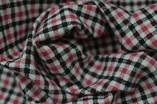 RED BLACK & WHITE MICRO GINGHAM CHECK PRINTED SINGLE JERSEY STRETCH FABRIC