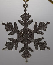 Buccellati Italy 1995 All Sterling Annual Ornament - Snowflake