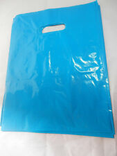 """100  9"""" x 12"""" Teal Blue Low-Density Plastic Merchandise Bags, Gift Bags, Party"""