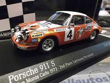 PORSCHE 911 S Rallye Monte Carlo 1972 #4 Larrousse 2nd SEB NEW Minichamps 1:43