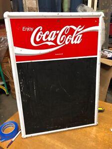 VINTAGE COCA COLA COKE MENU BOARD CHALK BOARD 28 INCHES TALL RESTAURANT