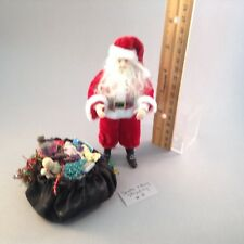 Dollhouse miniature 1/12th scale porcelain standing Santa with toy bag #4