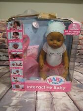 Zapf Creation Baby Born Interactive Ethnic Doll  AA New damaged box
