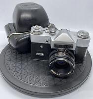 PRINZFLEX Black Silver '500' Vintage 35mm SLR Camera/CARENAR 1:2.8 45MM LENS +++