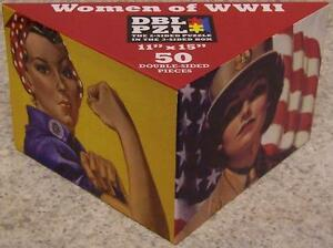 Jigsaw 2 sided Puzzle in the 3 sided box 50 piece Women of World War 2 NEW