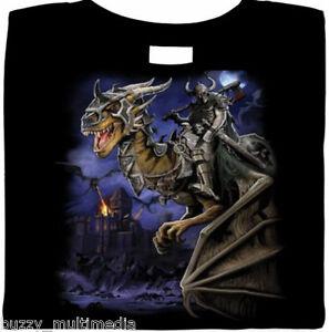 Dark Fantasy Dragon Master Shirt,  Mythical Creature, Gothic, biker  Small - 5X