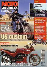MOTO JOURNAL 1250 Essai KAWASAKI GPZ 500 YAMAHA XV 650 Drag Star XVS GUZZI Story
