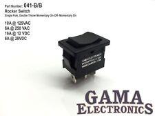 Mini 10 Amp Rocker Switch SPDT 3 Position Momentary On-Off-Momentary On 041-B/B
