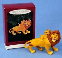 Hallmark Mufasa and Simba Lion King Keepsake Ornament in Original Box NOS