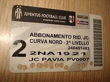 ABBONAMENTO STADIO FC JUVENTUS CALCIO STAGIONE 2002/2003 CURVA NORD 2° LIVELLO