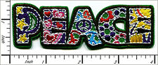 """20 Pcs Embroidered Iron on patches Peace Sign Hippie 3.88""""x1.25"""" AP025cB"""