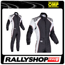 OMP KS-3 Suit Black White Size 60 Go Karting Racing Sport Overall CIK 3 Layers