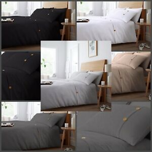Luxury New WAFFLE Poly-cotton Duvet Cover With Pillowcases Single Double King