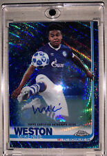 2018/19 Topps Chrome Champions League: Blue Wave Autogramm Weston McKennie 30/75