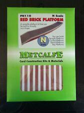 Metcalfe Kit PN110. Red Brick Platform Card Kit.  N Scale.