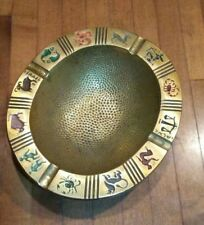 Vintage Retro Metal Ashtray Astronomy  Birth Signs Made In Israel