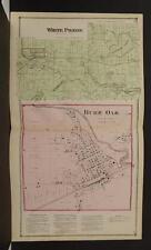 Michigan St Joseph County 1872 White Pigeon Township, Burr Oak Double Page Y9#05