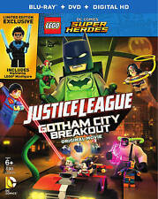 LEGO DC Super Heroes Justice League Gotham City Breakout Blu-ray Figurine NEW