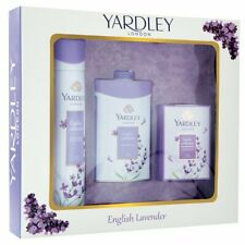 Yardley London English Lavender Luxury Gift Set Deo 150ml Talc 100g Soap 100g