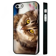 cat upside down BLACK PHONE CASE COVER fits iPHONE