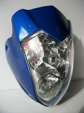 New Blue Universal Headlight Street Fighter Alien Gsx Zxr Yzf Cbr R1 Yamaha Cbf