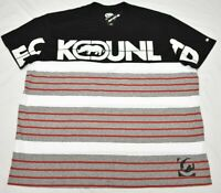 Ecko Unltd T-Shirt Men 5XL 5XB 5X Colorblock Striped Logo Graphic Tee Urban Q163