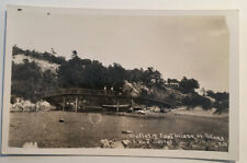 The Outlet & Foot Bridge At Stoney Lake Michigan Real Photo RPPC Postcard C.1915
