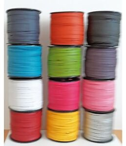 FAUX SUEDE CORD 12 COLOUR CHOICES JEWELLERY MAKING IMITATION LEATHER CORD
