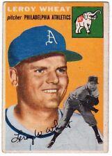 1954 Topps #244 Leroy Wheat - Philadelphia Athletics, Excellent Condition.