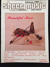 SHEET MUSIC MAGAZINE-EASY ORGAN-BEAUTIFUL MUSIC-FEBRUARY 1983