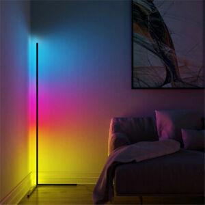 Colour Changing RGB Mood Lighting Metal LED Corner Floor Wall Lamp W.Remote New