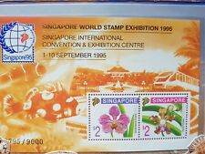 Singapore 95 Orchid Series Miniature Limited Quantity MNH 1995