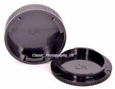 Summicron-R Elmarit-R fit Leica-R Rear Lens Cap + Leia R3 to Leica R9 Body Cap