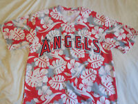 ANAHEIM ANGELS MLB BASEBALL HAWAIIAN LOS ANGELES FLORAL BEACH Jersey T SHIRT XL