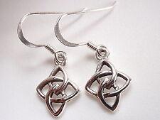 Small Celtic Infinity Earrings 925 Sterling Silver Dangle Corona Sun Jewelry