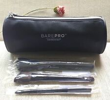 bareMinerals 3-pc BRUSH COLLECTION Full Sizes + BarePro roll-shape BAG ~ NIP!!
