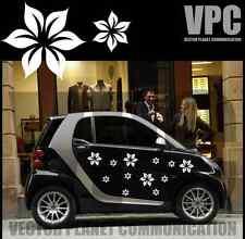 adesivi fiori auto 12PZ stickers tuning vettoriali pc vetri muri mobili specchi