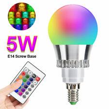 E14 RGB 16 Colour Changing Remote Controlled LED Light Bulb Disco Spotlight Lamp