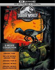 JURASSIC WORLD - 5 MOVIE steelbook (4K ULTRA HD) - Blu Ray -Region free