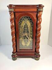 Vintage Bombay Company Wood 2004 Mantel Shelf Quartz Clock w/ Storage