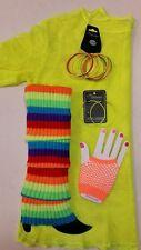 Rainbow 80's Mix - Top, Leg Warmers, Gloves, Earrings & Bangles