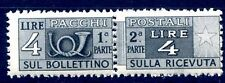 ITALIA 1947 - PACCHI POSTALI   4  Lire   RUOTA  NUOVO **