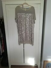 🖤 Next Sequinned Mid Length Tunic/Shift Dress in Grey UK Size 20