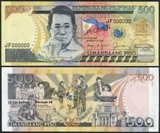 Philippines 500 Pesos P173s1 UNC - SPECIMEN (sign 11)