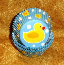 Rubber Duck,Ducky Cupcake Papers,Baby Shower,Wilton,75 Ct.Multi-Color,Bake Cup